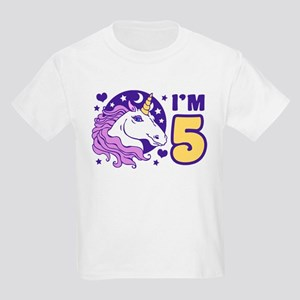 5 Year Old Unicorn Kids Light T-Shirt