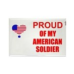 PROUD OF MY AMERICAN SOLDIER Rectangle Magnet (100