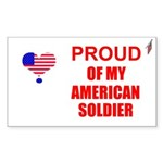 PROUD OF MY AMERICAN SOLDIER Rectangle Sticker