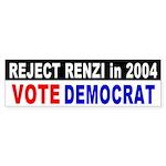 Reject Rick Renzi Bumper Sticker