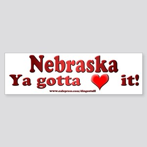 """Nebraska"" Bumper Sticker"