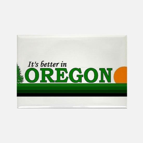 Unique Oregon love Rectangle Magnet