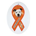 Pit Bull Awareness (Gus) Ornament (Oval)