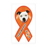 Pit Bull Awareness (Gus) Sticker (Rectangle)