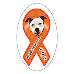 Pit Bull Awareness (Gus) Sticker (Oval)