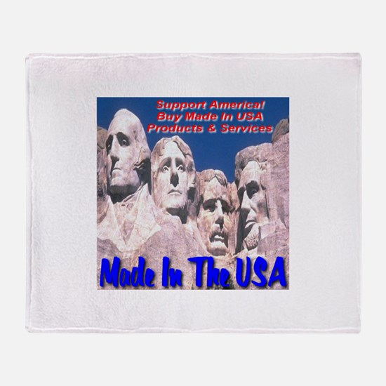 Made In The USA Mt. Rushmore Throw Blanket