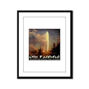 Old Faithful Framed Panel Print
