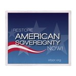 Restore American Sovereignty Throw Blanket