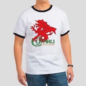 Cymru Draig Ringer T