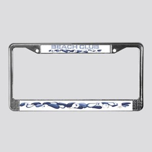 Beach Club License Plate Frame