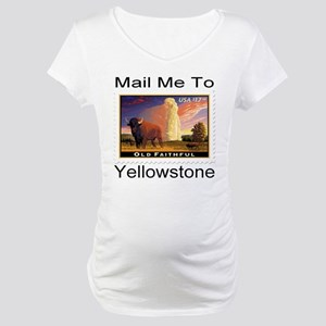 Mail Me To Yellowstone Maternity T-Shirt