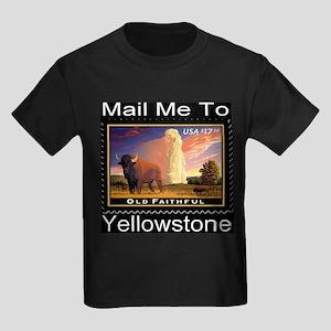 Mail Me To Yellowstone Kids Dark T-Shirt