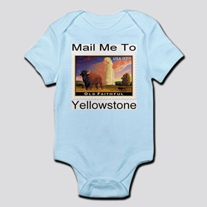 Mail Me To Yellowstone Infant Bodysuit