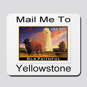Mail Me To Yellowstone Mousepad