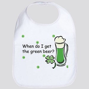 Irish Green Beer Baby Bib