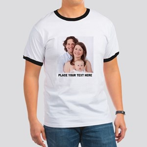 Photo Text Personalized Ringer T