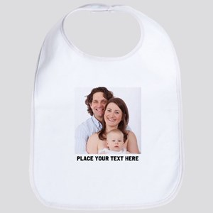 Photo Text Personalized Cotton Baby Bib