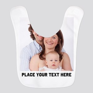 Photo Text Personalized Polyester Baby Bib
