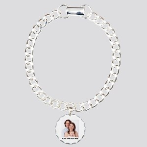 Photo Text Personalized Charm Bracelet, One Charm