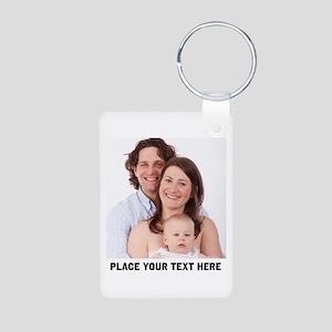 Photo Text Personalized Aluminum Photo Keychain