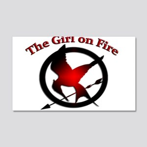 Girl on Fire 22x14 Wall Peel