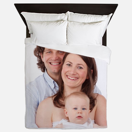 Photo Text Personalized Queen Duvet