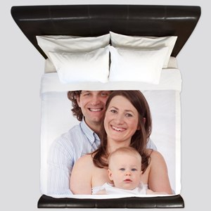 Photo Text Personalized King Duvet