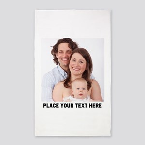Photo Text Personalized Area Rug