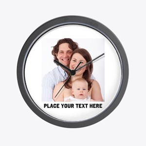 Photo Text Personalized Wall Clock