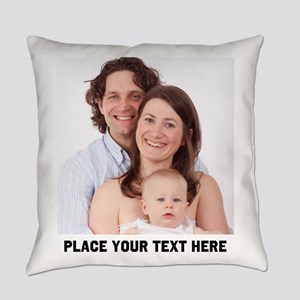 Photo Text Personalized Everyday Pillow