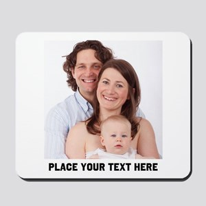 Photo Text Personalized Mousepad