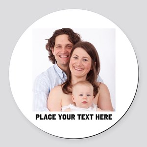 Photo Text Personalized Round Car Magnet