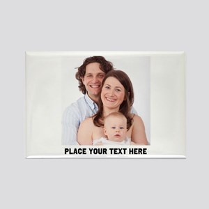 Photo Text Personalized Rectangle Magnet