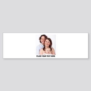 Photo Text Personalized Sticker (Bumper)