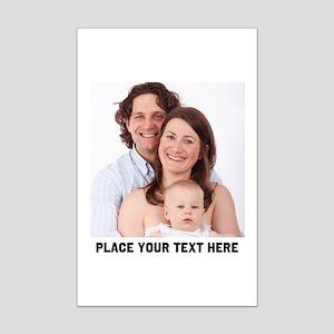 Photo Text Personalized Mini Poster Print