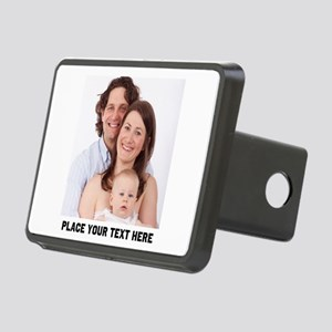 Photo Text Personalized Rectangular Hitch Cover