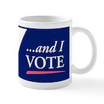 I (heart) Sex...and I Vote Coffee Mug