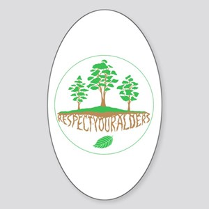 Respect Your Alders Sticker (Oval)