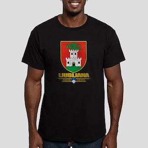 """""""Ljubljana"""" Men's Fitted T-Shirt (dark)"""