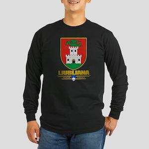 """""""Ljubljana"""" Long Sleeve Dark T-Shirt"""
