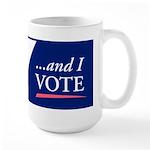 I (heart) Sex...and I Vote Large Mug