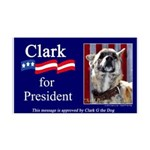 Clark G for President 38.5 x 24.5 Wall Peel