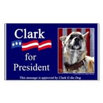 Clark G for President Sticker (Rectangle)