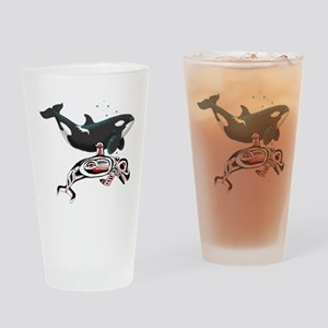 Northwest Tribal Orcas Drinking Glass
