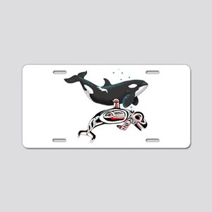 Northwest Tribal Orcas Aluminum License Plate