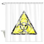 Vintage Bio-Hazard 3 Shower Curtain