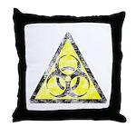 Vintage Bio-Hazard 3 Throw Pillow