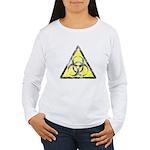 Vintage Bio-Hazard 3 Women's Long Sleeve T-Shirt