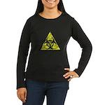 Vintage Bio-Hazard 3 Women's Long Sleeve Dark T-Sh