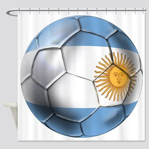 Argentina Football Shower Curtain